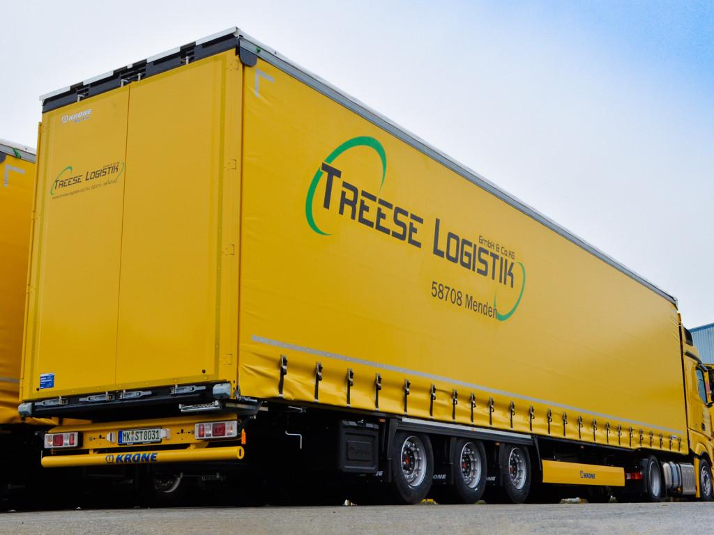 LKW mit Logo der Treese Logistik