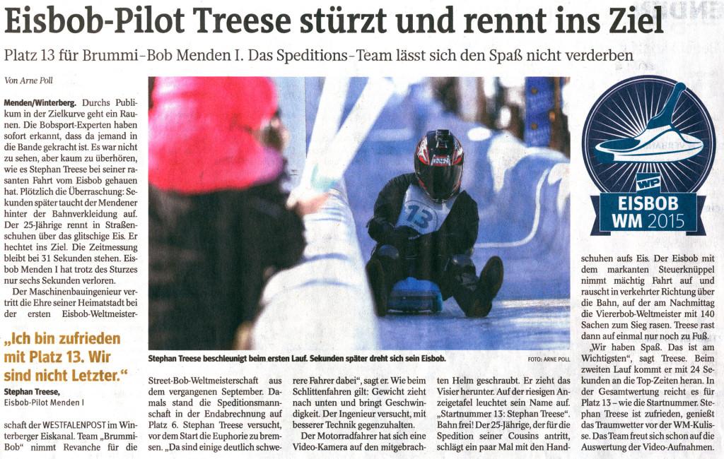 Abbildung des Zeitungsartikels aus der Westfalenpost