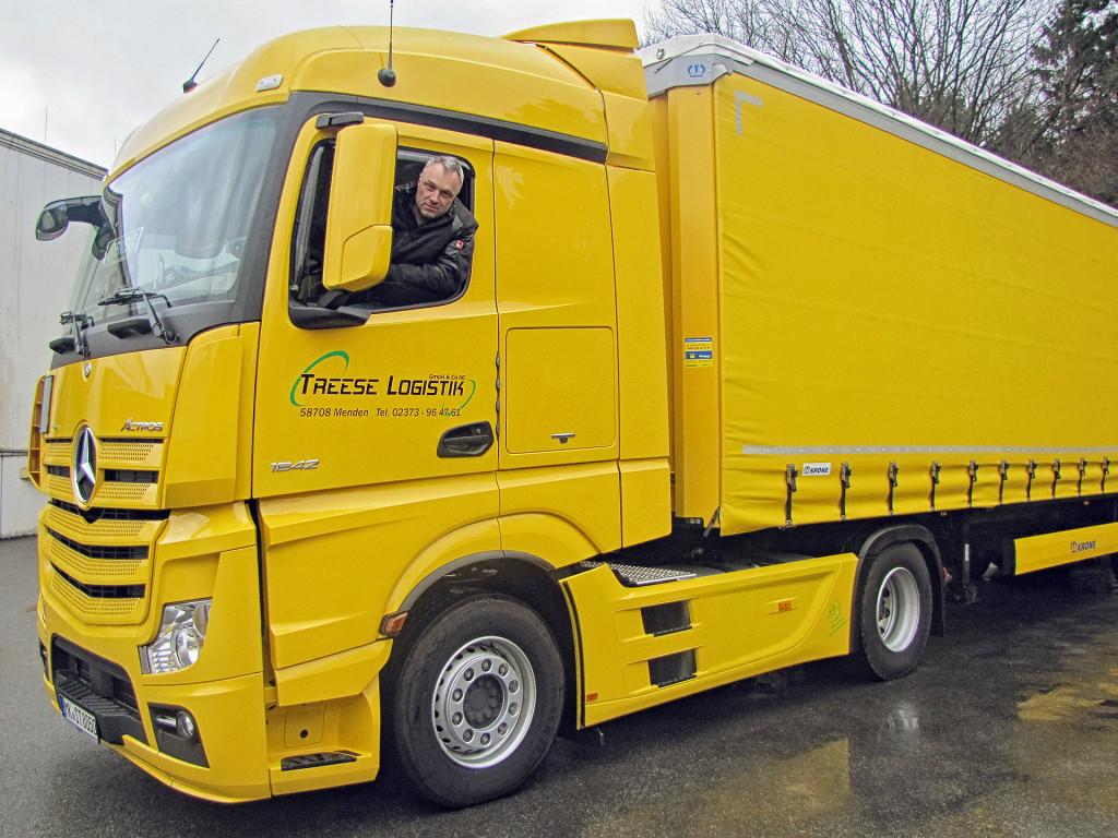 LKW mit Fahrer