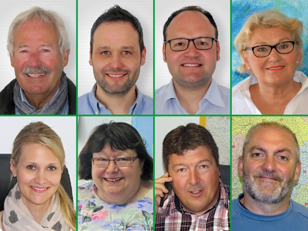 Fotocollage der Mitarbeiter von Treese Logistik